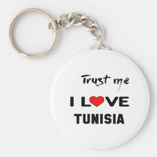 Trust me I love Tunisia. Keychain