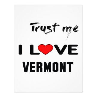 Trust me I love VERMONT Letterhead