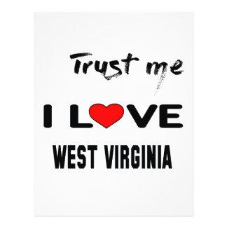 Trust me I love  WEST VIRGINIA Letterhead