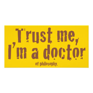 Trust me I m a doctor Picture Card