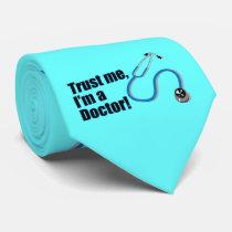 Trust Me I'm a Doctor Stethoscope Silk Tie