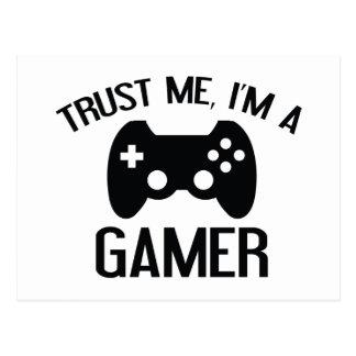 Trust Me, I'm A Gamer Postcard