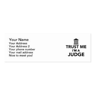Trust me I m a Judge Business Card