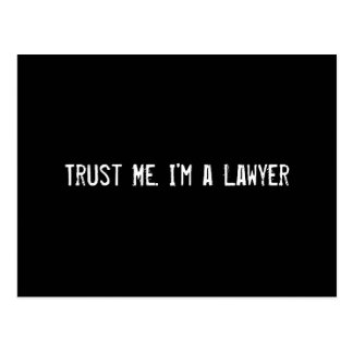 Trust Me I m a Lawyer Post Card
