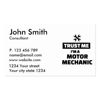 Trust me I'm a motor mechanic Business Card