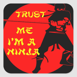Trust Me I'm A Ninja FB.com/USAPatriotGraphics © Square Sticker