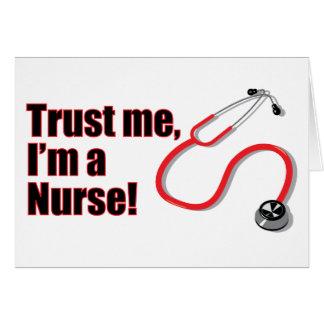 Trust Me I'm a Nurse Graduation Greetings Card Greeting Card