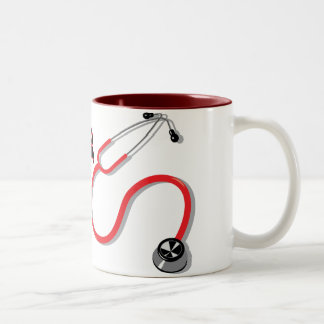 Trust Me I'm a Nurse Red Stethoscope Mug