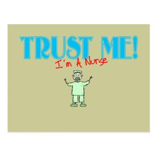 Trust Me I m A Nurse stick RN Post Card