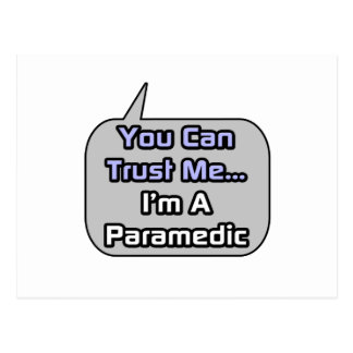 Trust Me I m a Paramedic Postcard