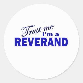 Trust Me I m a Reverend Sticker