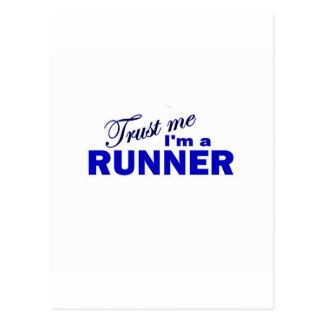 Trust Me I m a Runner Postcard