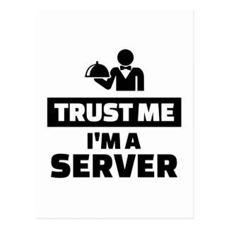 Trust me I'm a server Postcard