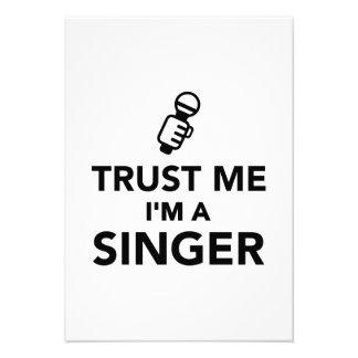 Trust me I m a Singer Personalized Invitation