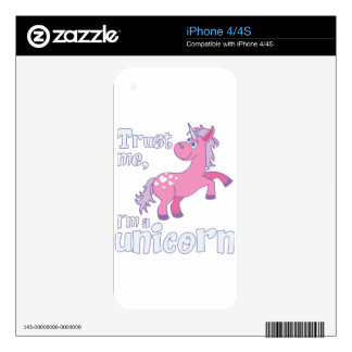 trust me i´m a unicorn iPhone 4 decal