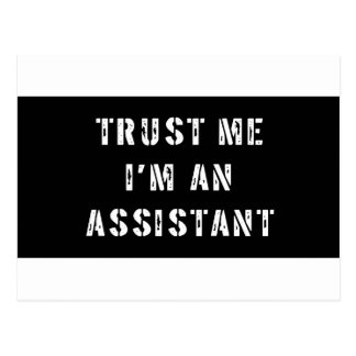Trust Me I m An Assistant Post Cards