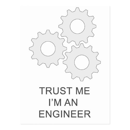 TRUST ME I'M AN  ENGINEER POSTCARD