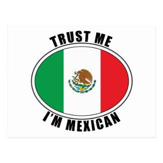 Trust Me I m Mexican Postcard
