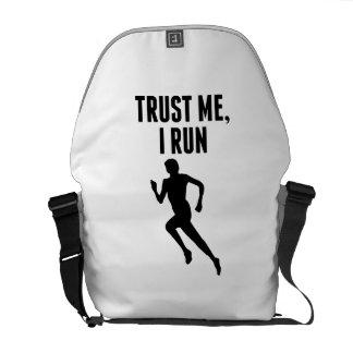Trust Me I Run Courier Bag