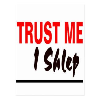 Trust Me I Shlep Postcard