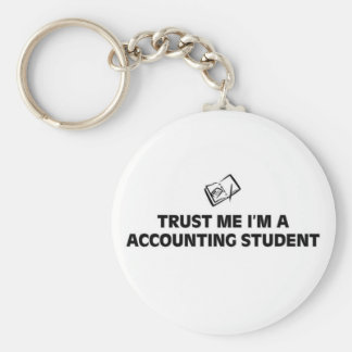 Trust me I'm a accounting student Basic Round Button Keychain