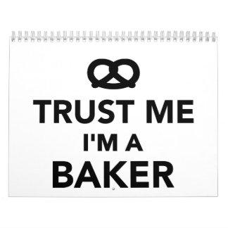 Trust me I'm a Baker Calendars