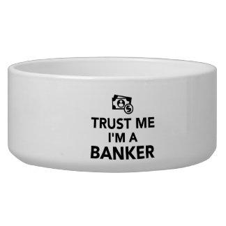 Trust me I'm a Banker Pet Bowls
