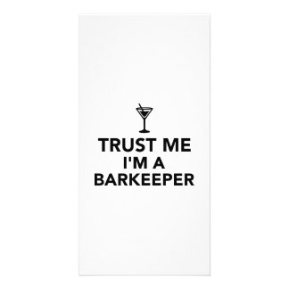 Trust me I'm a Barkeeper Photo Card