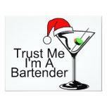 Trust Me Im A Bartender Martini 4.25x5.5 Paper Invitation Card