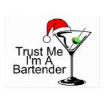 Trust Me Im A Bartender Martini Postcard