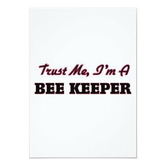 """Trust me I'm a Bee Keeper 5"""" X 7"""" Invitation Card"""