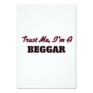 Trust me I'm a Beggar 3.5x5 Paper Invitation Card