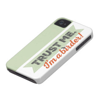 Trust me. I'm a Birder! Ribbon iPhone 4 Case