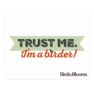 Trust me. I'm a Birder! Ribbon Postcard