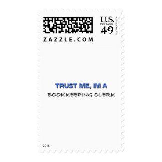 Trust Me I'm a Bookkeeping Clerk Stamp