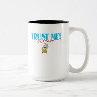 Trust Me I'm A Butcher Two-Tone Coffee Mug