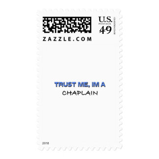 Trust Me I'm a Chaplain Postage Stamps