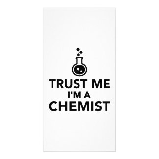 Trust me I'm a Chemist Photo Card Template