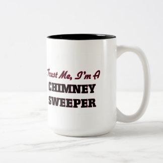 Trust me I'm a Chimney Sweeper Two-Tone Coffee Mug