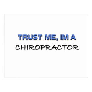 Trust Me I'm a Chiropractor Postcard