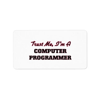 Trust me I'm a Computer Programmer Personalized Address Labels
