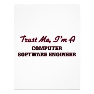 Trust me I'm a Computer Software Engineer Custom Flyer