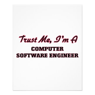Trust me I'm a Computer Software Engineer Personalized Flyer