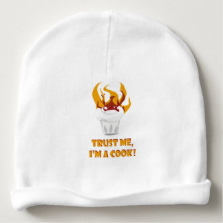 Trust me i'm a cook! baby beanie