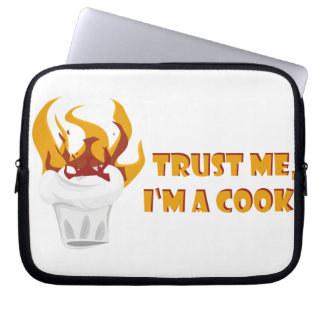 Trust me i'm a cook! computer sleeve
