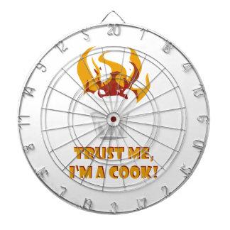 Trust me i'm a cook! dart board