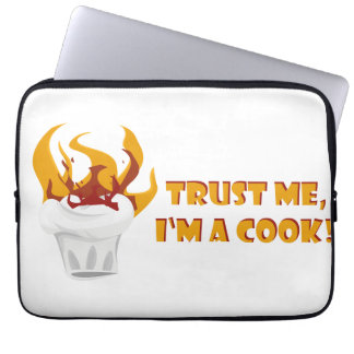 Trust me i'm a cook! laptop sleeve