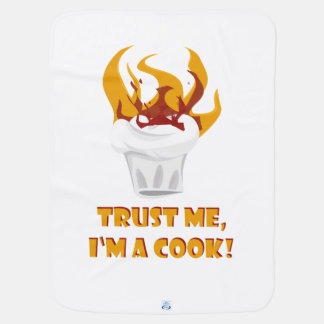 Trust me i'm a cook! swaddle blanket