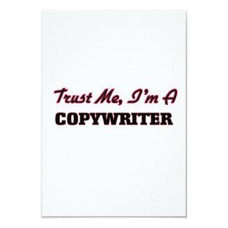 """Trust me I'm a Copywriter 3.5"""" X 5"""" Invitation Card"""