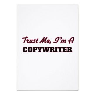"""Trust me I'm a Copywriter 5"""" X 7"""" Invitation Card"""